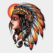 """Переводная татуировка """"Индианка"""""""