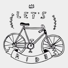 Переводная татуировка В вело-путь