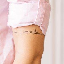 Переводная татуировка Smile