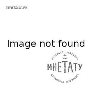 """золотая переводная татуировка """"котик принц"""""""