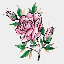 Временная тату Роза