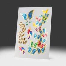 Переводная татуировка Цветные Бабочки