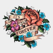 """Переводная татуировка """"Цветочки"""""""