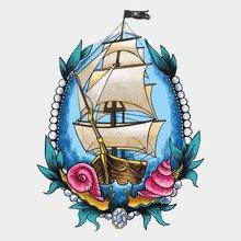 татуировка наклейка Корабль