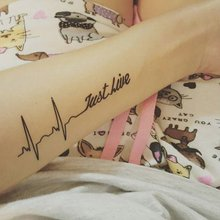 """Переводная татуировка """"Just Live"""""""