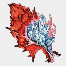 Переводная татуировка Морская ракушка