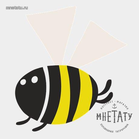 переводная татуировка пчелка