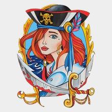 Переводная татуировка Пиратка