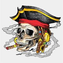 Временная татуировка Пиратский череп
